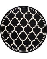 Anthracite/Ivory (Grey/Ivory) Abstract Loomed Round Area Rug - (7') - Safavieh