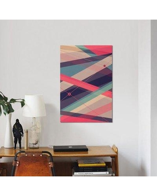 """East Urban Home 'Shockwave' Graphic Art Print on Wrapped Canvas ESRB9425 Size: 18"""" H x 12"""" W x 1.5"""" D"""