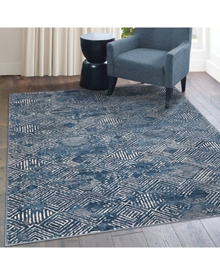 FirsTime & Co. Navy Bianca Geometric Area Rug, 5 x 8 ft