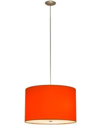"""Latitude Run Joulon 3 - Light Shaded Drum Chandelier MBUV3935 Shade Color: Red Size: 136"""" H x 22"""" W x 22"""" D"""