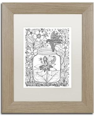 "Trademark Art 'Fairy' Framed Graphic Art ALI3577-T1 Size: 14"" H x 11"" W x 0.5"" D Matte Color: White"