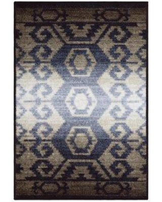 Union Rustic Huntley Superior Printed Non-Slip Blue/Gray Area Rug BF127895 Rug Size: Rectangle 2' x 3'