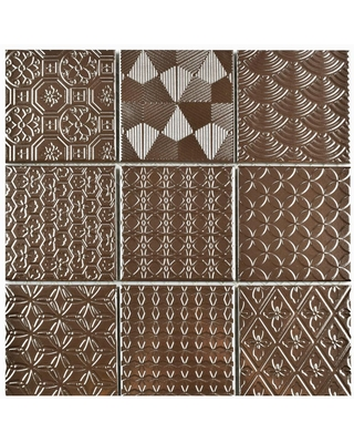Check Out These Bargains On Merola Tile Take Home Sample Spirit Copper 6 In X Porcelain Mosaic Brown