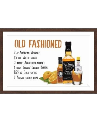 """Ivy Bronx 'Old Fashioned Concoction' Framed Painting Print IVYB2504 Size: 16"""" H x 24"""" W x 1.5"""" D"""