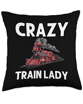 Best Train Station Passenger Vehicle Accessories Cool Train Gift For Women Mom Railroad Public Transportation Throw Pillow, 18x18, Multicolor