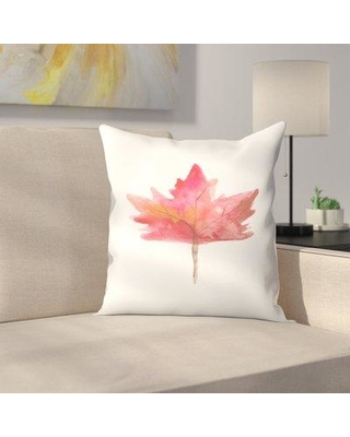 """East Urban Home Jetty Printables Maple Leaf Watercolor Throw Pillow EUHG3253 Size: 18"""" x 18"""""""