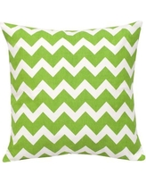 Greendale Home Fashions Chevron Cotton Canvas Throw Pillow TP5213- Color: Green