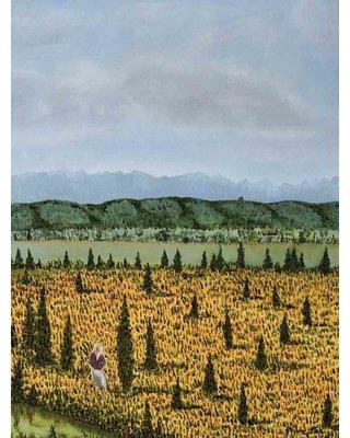 "Alcott Hill 'The Cypress' Acrylic Painting Print on Canvas BMUI6373 Size: 26"" H x 20"" W"