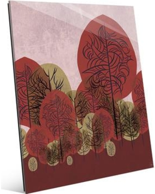 """Click Wall Art Autumn Standing Leaves Graphic Art on Plaque RET0000941GLS Size: 16"""" H x 20"""" W x 1"""" D"""