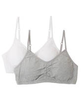 Fruit of the Loom Girls Sports Bra Removable Pads 2-Pack, Sizes 28-38