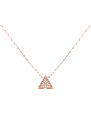LMJ - Skyscraper Triangle Necklace In 14 Kt Rose Gold Vermeil On Sterling Silver