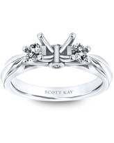 Scott Kay Ring Setting 1/3 ct tw Round-cut 14K White Gold