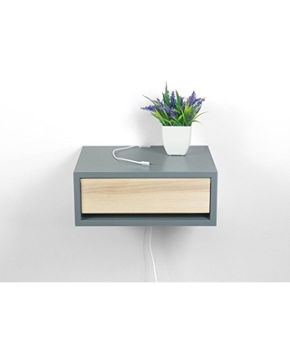 Contemporary Floating Nightstand Bedside Shelf Wall Mount Side Table End