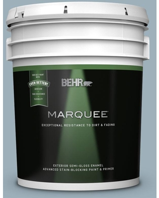 BEHR MARQUEE 5 gal. #MQ5-59 Ovation Semi-Gloss Enamel Exterior Paint and Primer in One