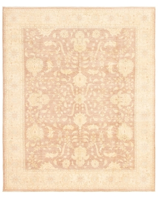 """Hand-knotted Peshawar Finest Brown Wool Rug (Brown - 8'2 x 9'10/8'2"""" x 9'10"""")"""