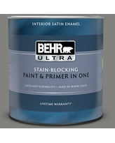 Find Big Savings On Behr Ultra 1 Qt Bnc 17 Casual Gray Extra Durable Satin Enamel Interior Paint Primer