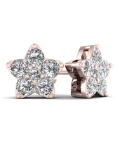 De Couer 1/2ct TDW Diamond Star Stud Earrings (H-I, I2) - Pink (Rose)