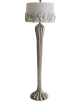 Hayworth Rosette Smoke Floor Lamp