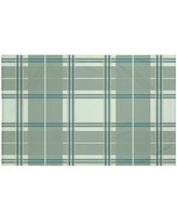 "Darby Home Co Burton Plaid Print Throw Blanket DRBC6018 Size: 60"" L x 50"" W, Color: Herb Green (Green)"