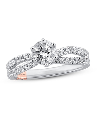 Jared The Galleria Of Jewelry Pnina Tornai Flow of Love Diamond Engagement Ring 1-3/8 ct tw Round 14K Two-Tone Gold