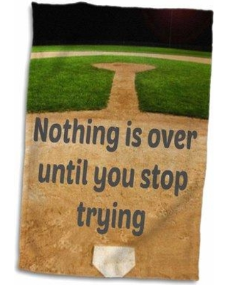 East Urban Home Mireille Nothing Is over Until You Stop Trying Baseball Hand Towel W000282595