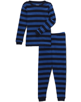 Leveret Boys' Sleep Bottoms - Blue & Navy Stripe Pajama Set - Infant, Toddler & Boys