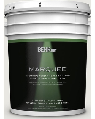 BEHR MARQUEE 5 gal. #bwc-30 Diamonds Therapy Semi-Gloss Enamel Exterior Paint and Primer in One