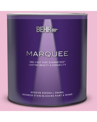 BEHR MARQUEE 1 qt. #100B-4 Pink Chintz Eggshell Enamel Interior Paint and Primer in One