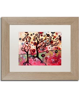 "Trademark Art '055' Framed Painting Print ALI5443-T1 Size: 11"" H x 14"" W x 0.5"" D Matte Color: White"