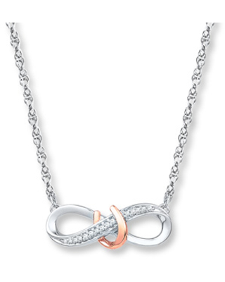 a747886dc0c5e1 New Savings on Infinity Necklace 1/20 ct tw Diamonds Sterling Silver ...