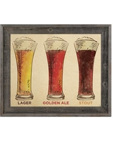 """Click Wall Art Beers Paper Framed Painting Print on Canvas KIT0000028FRM Size: 23.5"""" H x 33.5"""" W x 1"""" D"""