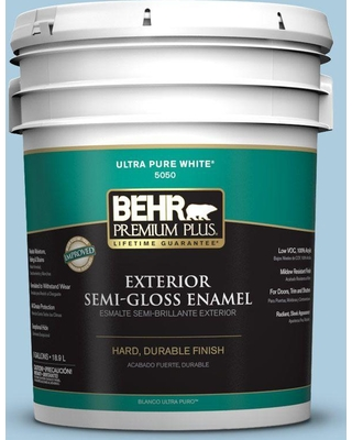 BEHR Premium Plus 5 gal. #M500-2 Early September Semi-Gloss Enamel Exterior Paint and Primer in One