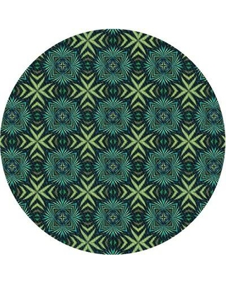 East Urban Home Wool Light Blue Area Rug X113625306 Rug Size: Square 4'