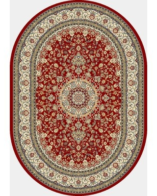 """Attell Oriental Red/Ivory Area Rug Astoria Grand Rug Size: Rectangle 7'10"""" x 11'2"""""""