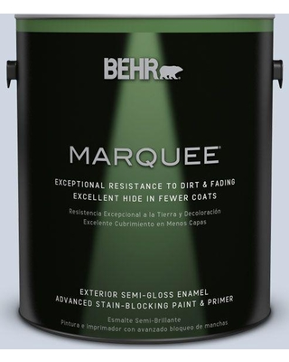 BEHR MARQUEE 1 gal. #MQ3-60 Blue Gossamer Semi-Gloss Enamel Exterior Paint and Primer in One