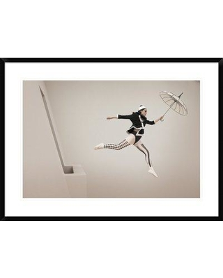 "East Urban Home 'The Jump' Photographic Print on Canvas ESTV1686 Size: 26"" H x 36"" W Format: Black Framed Matte Color: White Matte"
