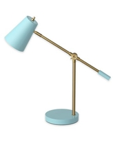 Marmalade™ LED Desk Lamp with USB Port in Sky Blue/Brass