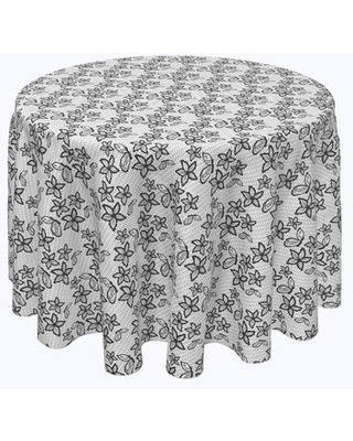 """Beauvue Lacey Butterflies and Flowers Tablecloth Red Barrel Studio® Size: 108"""" x 108"""""""
