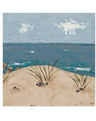 """Highland Dunes 'Beach Scene Triptych III' Acrylic Painting Print on Wrapped Canvas X111187921 Size: 24"""" H x 24"""" W x 2"""" D"""
