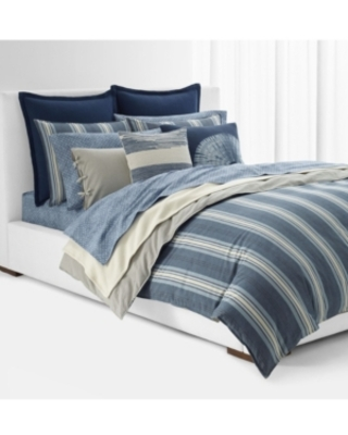 Lauren Ralph Lauren Gavin Stripe King Comforter Set Bedding