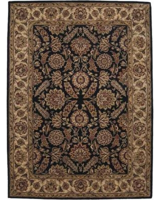 "Astoria Grand Bassham Hand-Tufted Wool Black/Brown Area Rug ASTG4054 Rug Size: Rectangle 7'9"" x 9'9"""