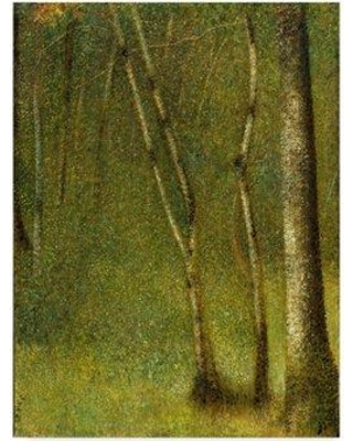 "Trademark Art 'The Forest at Pontaubert' Oil Painting Print on Wrapped Canvas BL02041-CGG Size: 24"" H x 18"" W x 2"" D"