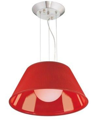 """Eurofase Ribo 1-Light Single Cone Pendant Shade, Glass in Red, Size Large ( 17"""" - 29"""" wide) 