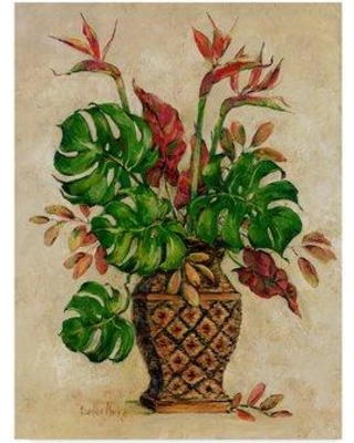 """Bay Isle Home 'Exotic Bouquet' Acrylic Painting Print on Wrapped Canvas BYIL5432 Size: 32"""" H x 24"""" W x 2"""" D"""