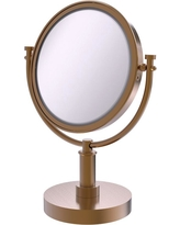 Allied Brass 8 in. x 5 in. Vanity Top Single Make-Up Mirror 4X Magnification in Brushed Bronze