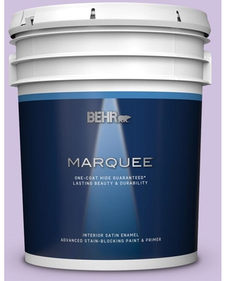 BEHR MARQUEE 5 gal. #650A-3 Fresh Heather Satin Enamel Interior Paint and Primer in One
