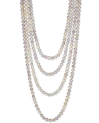 """100"""" Cultured Freshwater Pearl Endless Strand Necklace (7-8mm)"""