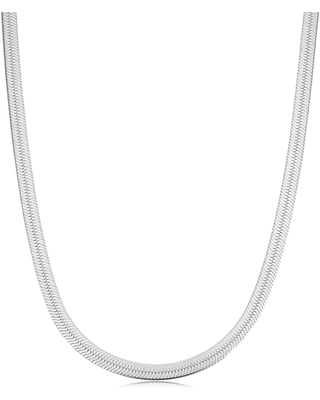 Sterling Silver 4.6 millimeters Herringbone Chain Necklace (18, 20 or 24 inches) (20 Inch)