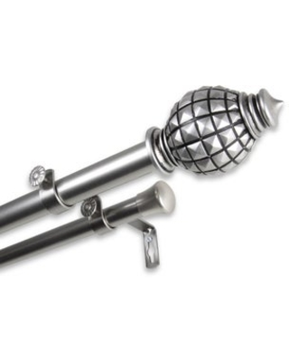 InStyleDesign Thalia Adjustable Double Curtain Rod (28 to 48 inches - satin nickel)