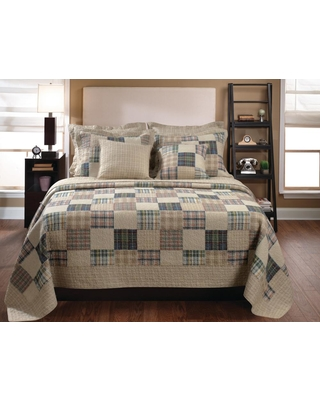 GREENLAND HOME FASHIONS Oxford 3-Piece Multi Full and Queen Quilt Set